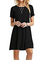 About Product:  Women's Basic Short Sleeves Long Tunic Top Mini T-shirt Dress 100% brand new and in original package by MOLERANI Lightweight, soft and stretchy Unique style,make you beautiful,fashionable,sexy and elegant. Please check the measurement...