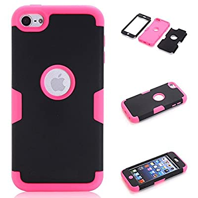 iPod Touch 6 Case,iPod Touch 5 Case, VPR 3 in 1 Shock Absorbing Case, Rubber Combo Hybrid Impact Silicone Armor Hard Case Cover for Apple iPod touch 5 6th Generation by VPR clear yellow joker holster tech 2 pack glass pink blue 3d and screen protector 2 p