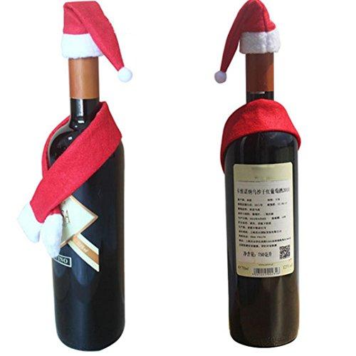 Han Shi Santa Claus Gift Bag, Christmas Candy Bag Xmas Tree Party Decoration Pocket (M, Red)