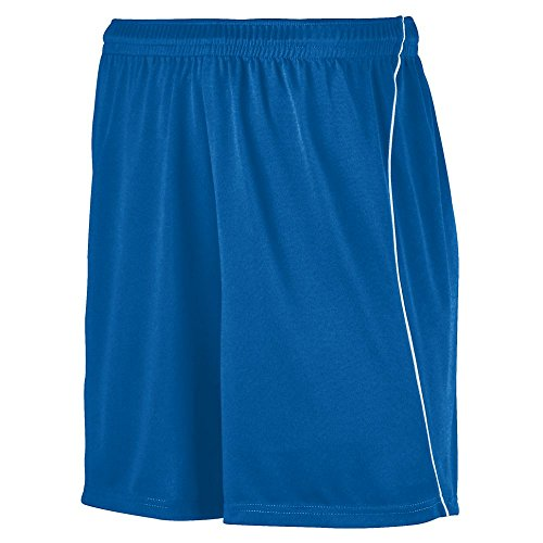 Augusta Sportswear Boys' Wicking Soccer Short with Piping L Royal/White
