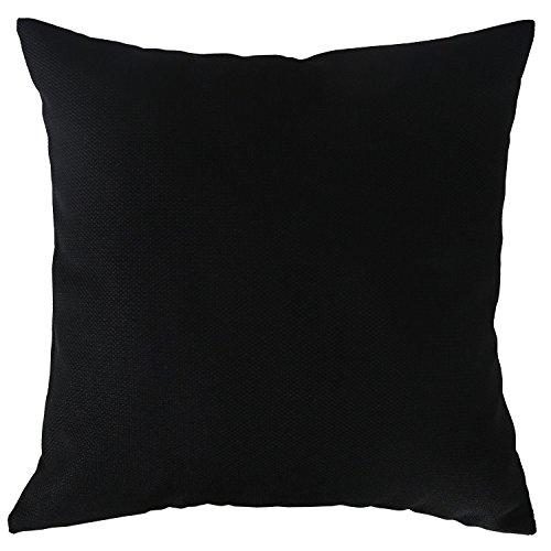 Deconovo Solid Color Faux Linen Pillowcase Woven Pillow Cove