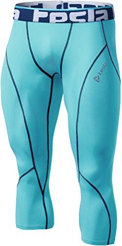 TSLA TM-P15-SBNZ_2X-Large Mens Compression Capri Shorts Baselayer Cool Dry Sports Tights P15