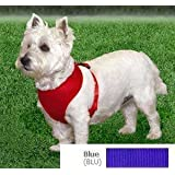 Coastal  Comfort Soft Adjustable Dog Dog Harness - Blue X-Small For Dogs 7-10 lbs