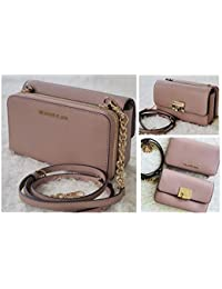 Tina Leather Clutch Crossbody and Detachable Wallet Bag 2in1