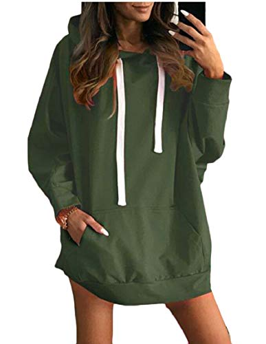 Hoodie Maweisong Pullover Dresses Women Causal Green Loose Sweatshirts Maxi Sweaters w1gC1t