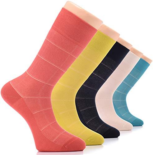 Hu Socks Men's Business, Square Pattern-2-Pack of 5, Large