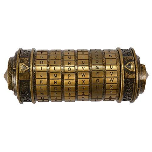 Decdeal Storage Lock Box Letter Password Combination Lock Birthday Gift Box Cylinder Lockbox Da Vinci Code Alphabet Locks