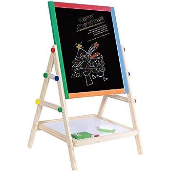 Amazon Com Children S Free Standing Wood Chalkboard Easel
