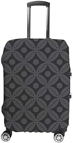 スーツケースカバー 灰色 円形 伸縮素材 キャリーバッグ お荷物カバ 保護 傷や汚れから守る ジッパー 水洗える 旅行 出張 S/M/L/XLサイズ