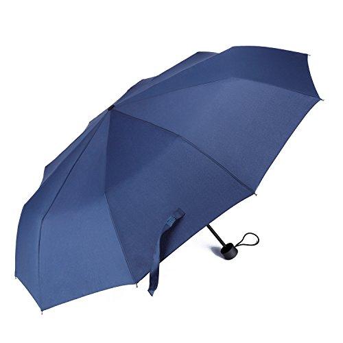 NiksaR高強度グラスファイバー骨10骨傘折りたたみ傘晴雨兼用頑丈高強度の安全傘直径102cm2色直径102cm(ディープブル)