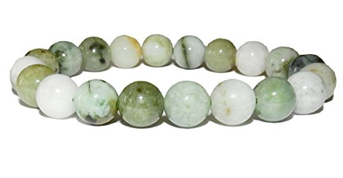 10mm Jade Bracelet 01 Love Heart Chakras Abundant Stone (Gift Box) (8.0)