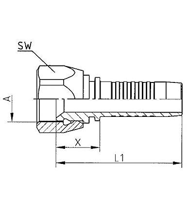 /12/Un /DN12/ Hydraulic Hose Fitting Head DKJ/ /1/1//16/