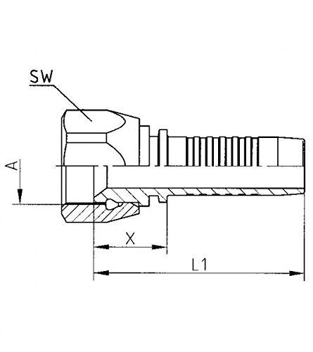 Hydraulic Hose Fitting Head DKJ/ /1/1//16/ /12/Un /DN12/