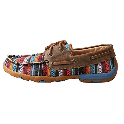 Twisted Serape X Womens Shoes Driving Twisted Bomber Moccasin X WDM0076 r4nBr8
