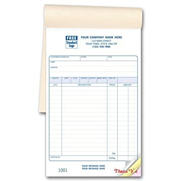Amazon.Com : Carbonless Custom Sales Invoice Books : Office Products