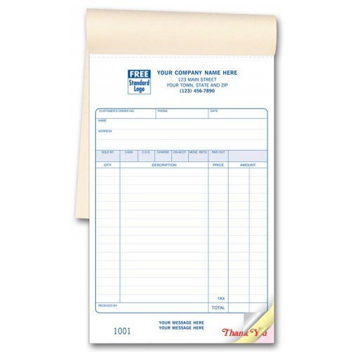 amazon com carbonless custom sales invoice books office products