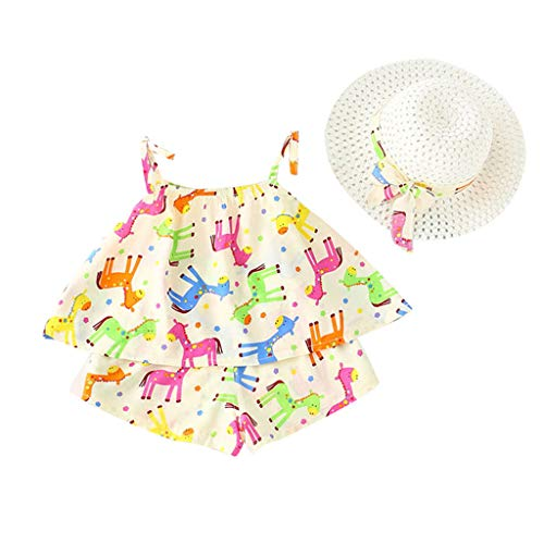 NUWFOR Beach Mini Sundress Toddler Baby Girls Strap