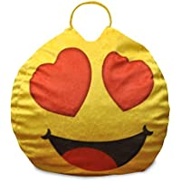 Emoji Pals Eyes for You Bean Bag with Handle, Yellow, 55