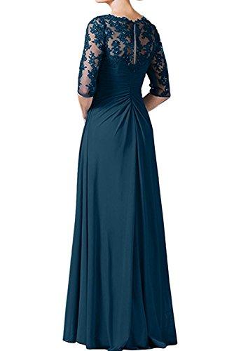 Fuchsia mia La Braut Blau Kleider Dunkel Jugendweihe Damen Ausschnitt V Brautmutterkleider Abendkleider Dunkel Partykleider dISTqT