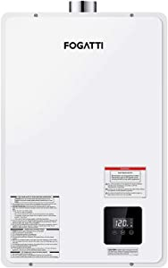 FOGATTI Propane Tankless Water Heater Indoor for Home Gas 20L 3.7 GPM 67℉Rise (5.5 GPM 45℉ Rise), High Efficiency Instant Hot On Demand Multiple Points of Use