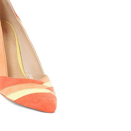 La Redoute Collections Frau Pumps mit Grafischem Muster Gre 41 Orange