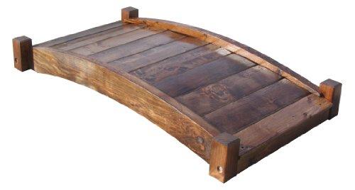 SamsGazebos Zen Japanese Style Wood Garden Bridges, 4', Brown