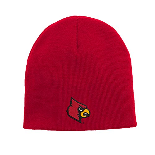 (Outerstuff NCAA Louisville Cardinals Youth Boys Basic Uncuffed Knit Hat, 1-Size, University Red)