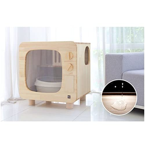 Hot Sale Premium Natural Wood Cat Litter Box Furniture Diy Cat Woody