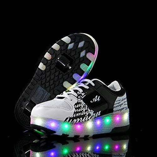 WYEING. LED con Luces Zapatillas De Deporte Luz Brillante 7 Colores Zapatos para Niños Parpadeante Niños Niños Chicas Navidad Regalo De Año Nuevo,Negro,28: Amazon.es: Deportes y aire libre