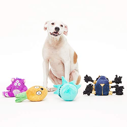 BarkBox Best of Box Plush Toy Bundle for Large Dogs, 2-in-1 Squeak and Chew Toys for Long-Lasting Playtime – Great Gift