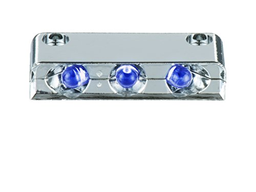 Innovative Lighting 003-6200-7 3 Purple LED Step Light Surface Mount with Chrome Case