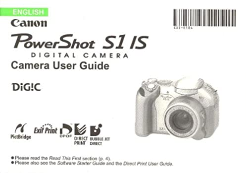 canon powershot s1 is original user guide instruction manual canon rh amazon com canon sx1 is manual Canon XM2