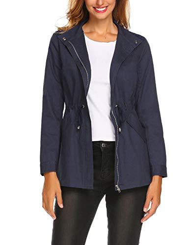 ELESOL Casual Military Lined Jacket Women Zip Versatile Military Safari Anorak ()