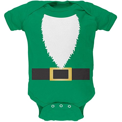 Halloween Lawn Gnome Costume Green Soft Baby One Piece Kelly Green 9-12 M (Lawn Gnome Halloween Costumes)