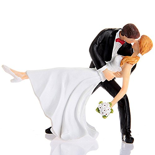 Lingstar A Romantic Dip Dancing Bride and Groom Couple Figurine Cakes Resin Decoration