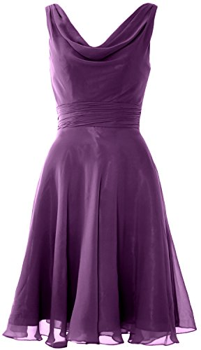 Cocktail Elegant Party Bridesmaid Dress Short Gown Eggplant Cowl MACloth Neck Wedding dt0Oftq