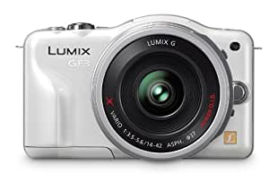Panasonic Lumix DMC-GF3XW 12 MP Micro 4/3 CSC with Touch-Screen LCD with PZ 14-42mm Retractable Lens  (White)