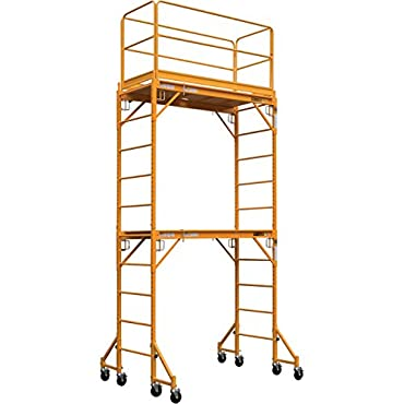 Metaltech Multipurpose Maxi Square Baker Style Scaffold Tower Package 12ft, 1,000-Lb. Capacity, Model# I-TCISC