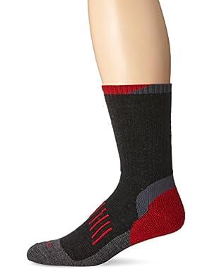 Men's All Season Steel Toe Merino Wool Blend Crew Socks