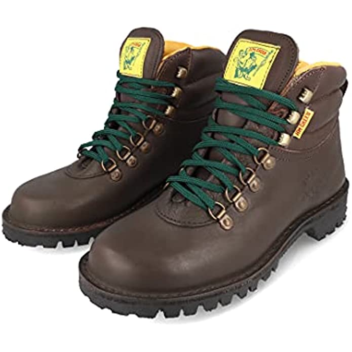 Jim Green Men's Razorback Boots Lace-Up Water Resistant Full Grain Leather Work or Hiking Boot