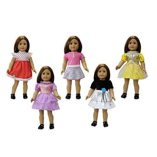 Le Da Zita Fashion Per Partito Della E Girl 5 18 Abito Del Vestiti Altri Doll Bambola Abito Bambole Handmad Pollici Abiti Per Regalo Costumi Elemento Americana Ragazza Set rttfv