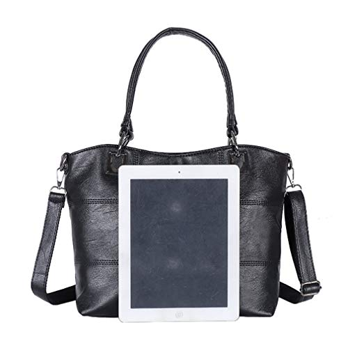 PU 2Pcs Black Shoulder Gray2 Women 27cm Bags 32cm 13cm Leather 5Twq4rBT
