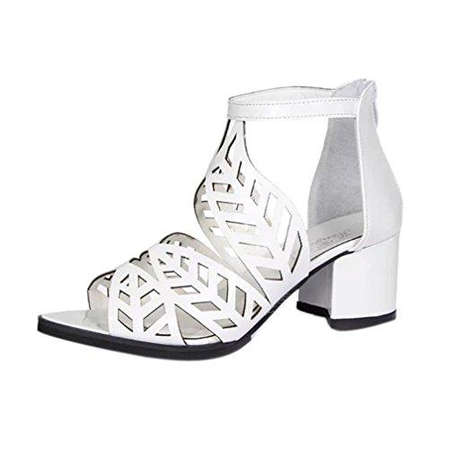 Talons Rawdah Noeud Forme Printemps Vintage Bohème Blanc Été Épais Croix Talons b Femmes Sandales Chaussures Chaussures Plate Hauts Sandales Coin w7qxpw6