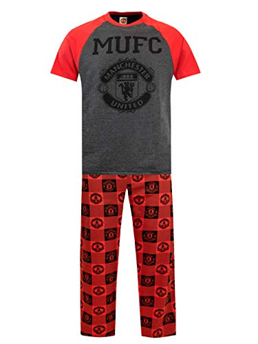 Manchester United Mens Manchester United Football Club Pajamas Size Large