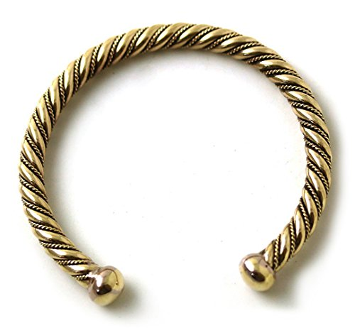 Bronze Norse Viking Spiral Twisted Cable Bangle Cuff Bracelet Arm Ring Jewelry