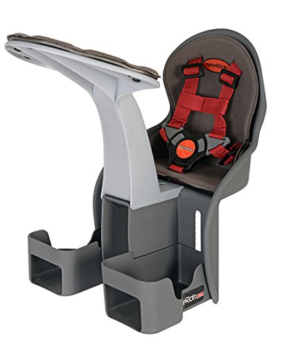 WeeRide Kangaroo Child Bike Seat, Grey (Best Front Mounted Child Bike Seat)