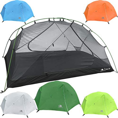 Hyke & Byke 2 Person Backpacking Tent with Footprint - Lightweight Zion Two Man 3 Season Ultralight, Waterproof, Ultra Compact 2p Freestanding Backpack Tents for Camping and Hiking (Forest Green)