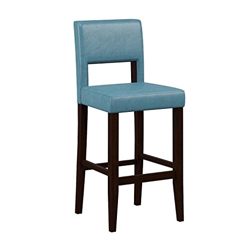 Linon Vega Bar Stool Aegean Blue Furniture Chairs Stools