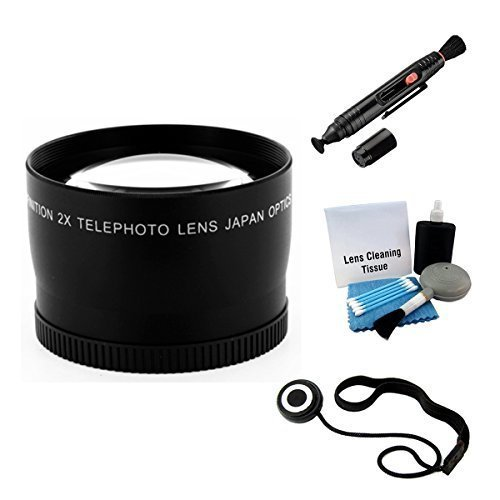 UltraPro 55mm Telephoto Lens Bundle For The Sony FDR-AX53 Camcorder. Includes 2x Telephoto High Definition Lens, Lens Pen Cleaner, Cap Keeper, UltraPro Deluxe Cleaning Kit