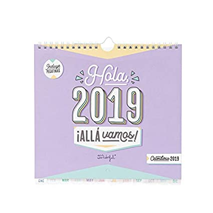 Mr. Wonderful - Calendario pared hola, 2019 allá vamos: Amazon.es ...
